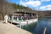 Boat at plitvice national park — Stock Photo