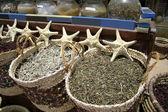 Star fish at a local market in dahab, red sea region, sinai, egypt — Stock Photo