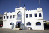 White castle police station in dahab, red sea, sinai, egypt — Stock Photo