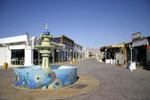 Mosaic fountain on central market street in dahab, red sea, sinai, egypt — Stock Photo