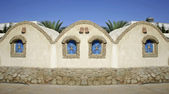 House on sea front in dahab, red sea, sinai, egypt — Foto de Stock