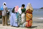 Family at the beach, kerala, india — Stock Photo