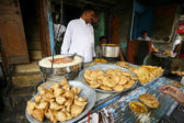 Scene at local dhaba, delhi, india — Stock Photo