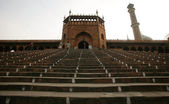 Entrance to jama masjid, old delhi, india — ストック写真