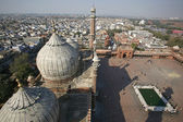 View from minaret tower at Jama Masjid, Delhi, India — Stock Photo