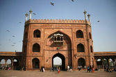 Jama Masjid entrance, Delhi, India — Stock Photo