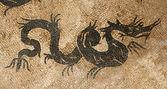 Drachen mosaik — Stockfoto