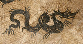Dragon mozaïek — Stockfoto