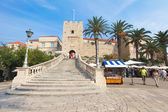 Entrance to old town - Korcula — Stock Photo