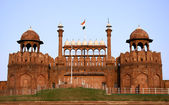 Red fort in the evening sky, delhi, india — Stock Photo