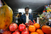 Juice bar in Delhi — Stock Photo