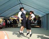 Traditioanal folklore dance, correze, france — Stock Photo
