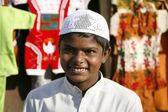 Muslim boy at Jama Masjid, Delhi, India — Stock Photo