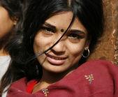 Young nepali woman, annapurna, nepal — Stock Photo