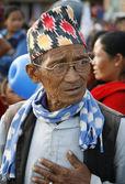Old nepali man — Stock Photo