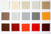 Textile colour palette — Stock Photo