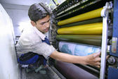 Series of photos: four color printing process, delhi, india — Stock Photo