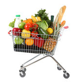 Full shopping trolley — Stock Photo