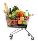 Trolley with produce — Stock Photo