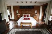 Camera da letto in terracotta — Foto Stock