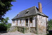 Newly renovated old bard in correze, france — Stock Photo