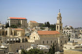 Church tower bethlehem, west bank, palestine, israel — Stock Photo