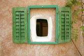 Window shutters on old house in little village on the mediterranean, croati — Stock Photo