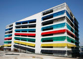 Colourful car park — Stock Photo