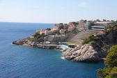 Hotel på kroatiska kusten — Stockfoto