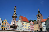 Landsberg main square — Stock Photo