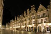 Munster principalmarkt nuit, allemagne — Photo