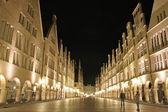 Munster principalmarkt at night, germany — Stock Photo