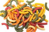 Multi coloured penne — Stock Photo