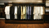 Clothes on display in designer shop in delhi, india — Stock Photo