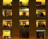 Offices at night, berlin, germany — Foto Stock