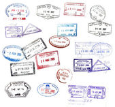 Visa stamps — Stock Photo