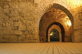 Knight templer tunnel jerusalem israel — 图库照片