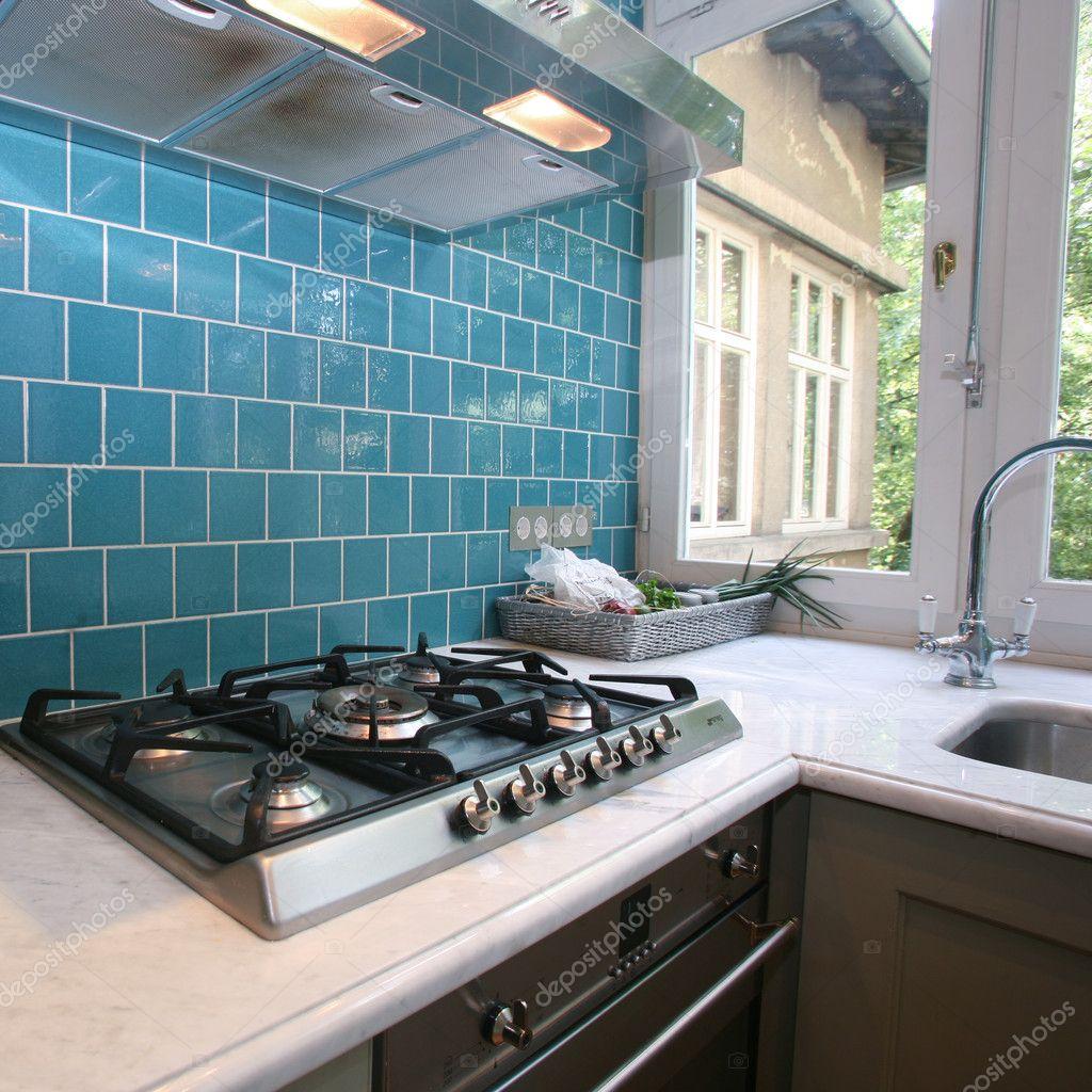 Moderne keuken — stockfoto © paulprescott #8044602