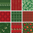 Royalty-Free Stock Vector Image: Christmas Patterns