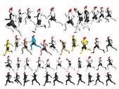 New Year Runners — Stock Vector