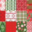 Holiday patterns — Stock Vector