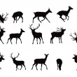 Deer silhouettes — Stock Vector #8086483