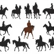 Royalty-Free Stock Vector Image: Horseback riding