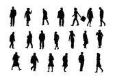 Ordinary silhouettes — Stock Vector