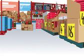 Big Store — Stock Vector
