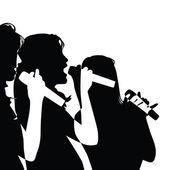 Singing Girls — Stock Vector