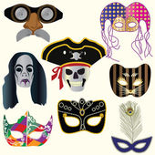 Collection Of Masks — Stock Vector