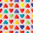 ストックベクタ: Heart Seamless Pattern