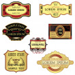 Collection Of Retro Style Labels — Stock Vector