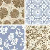Four Seamless Patterns — Stock Vector